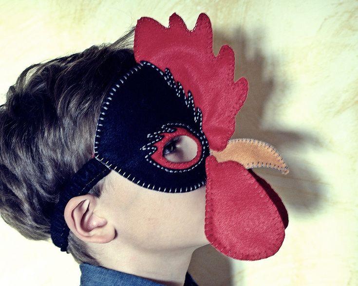 Gallina y gallo Máscara patrón PDF por oxeyedaisey en Etsy