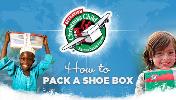 Have you packed your shoeboxes?  Collections are next week!  #holidays #give