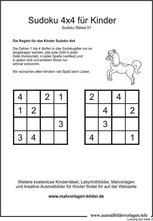 Ausmalbilder Fur Kinder Ab 10 Jahren In 2020 Kinderratsel Zum Ausdrucken Ratsel Fur Kinder Sudoku