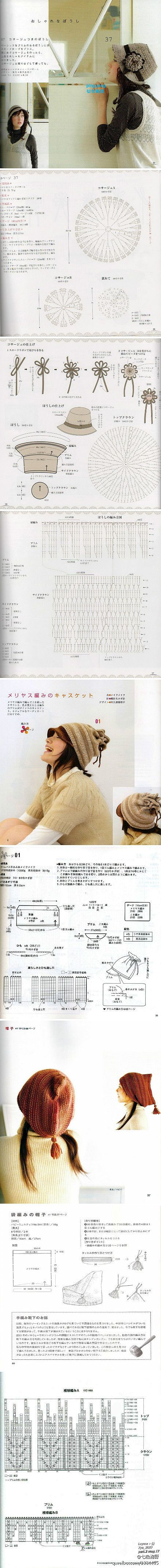 CHAPÉU DE CROCHÊ: Hat Crochet Patterns, Hats Crochet Patterns