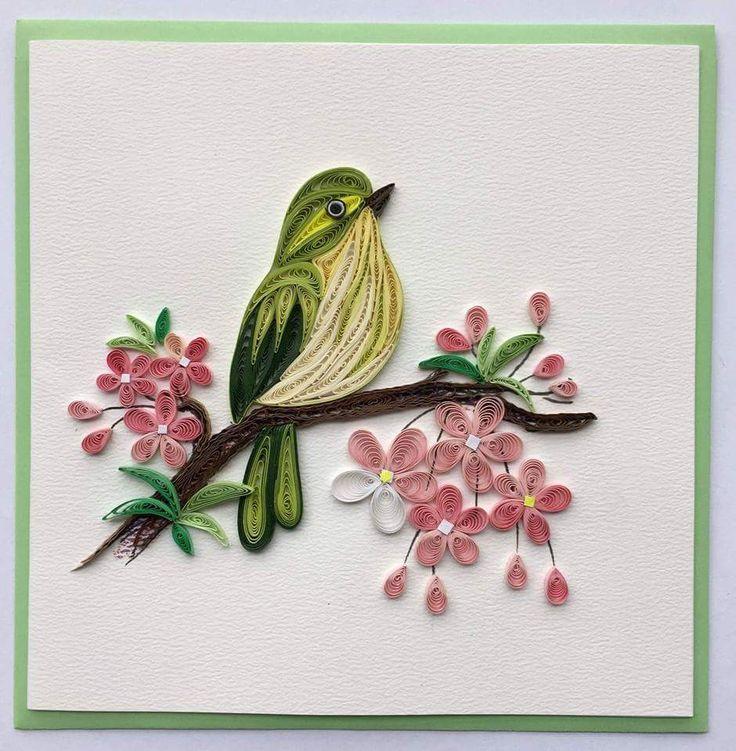 квиллинг открытки квиллинг птицы человек чем