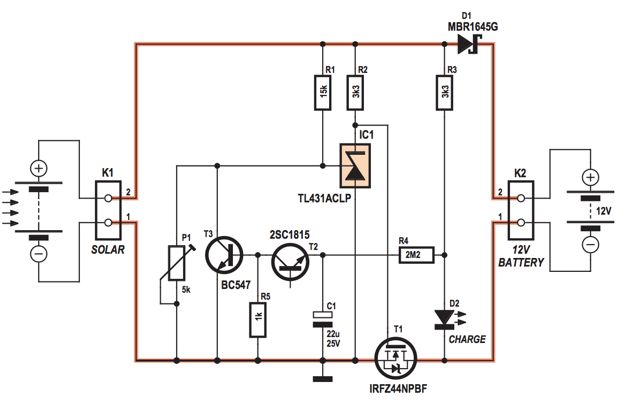 how to make 4a photovoltaic solar charge controller circuit diagram power supply circuit and