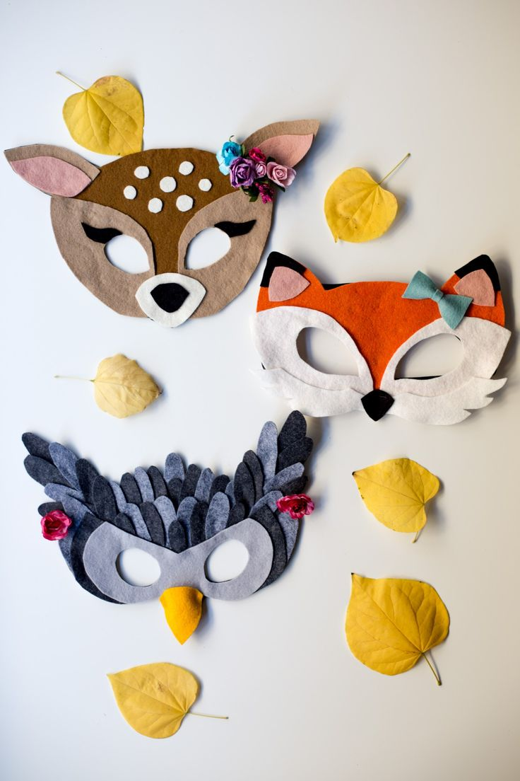 Free Felt Animal Mask Patterns by Anne Weil of Flax & Twine