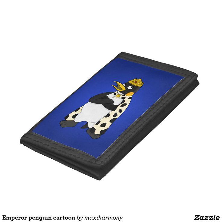 Emperor penguin cartoon tri-fold wallets