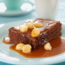 Eamon Sullivan's Easy Chocolate Brownie with Macadamia Caramel Sauce