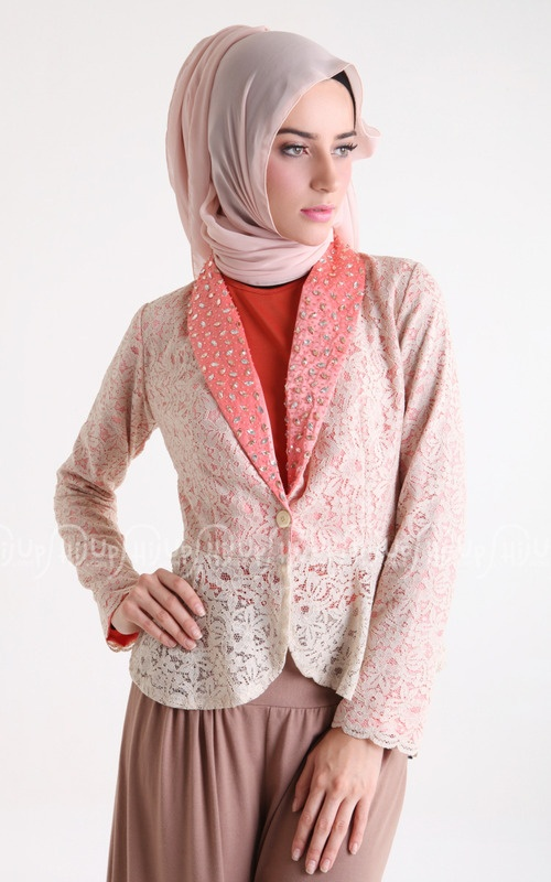 blazer brokat, another inspiration for mix with kebaya