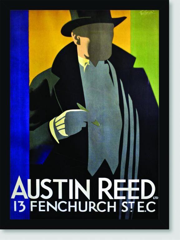 Quadro Poster Propaganda Austin Reed Posteres Art Deco Posteres Fashion Poster