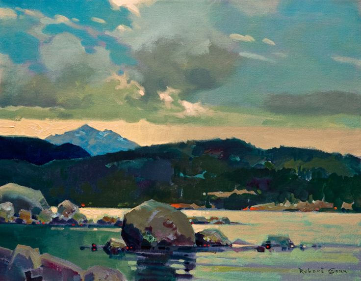 """Looking North From Painter's Lodge,"" by Robert Genn 14 x 18 - acrylic $4200 Unframed"