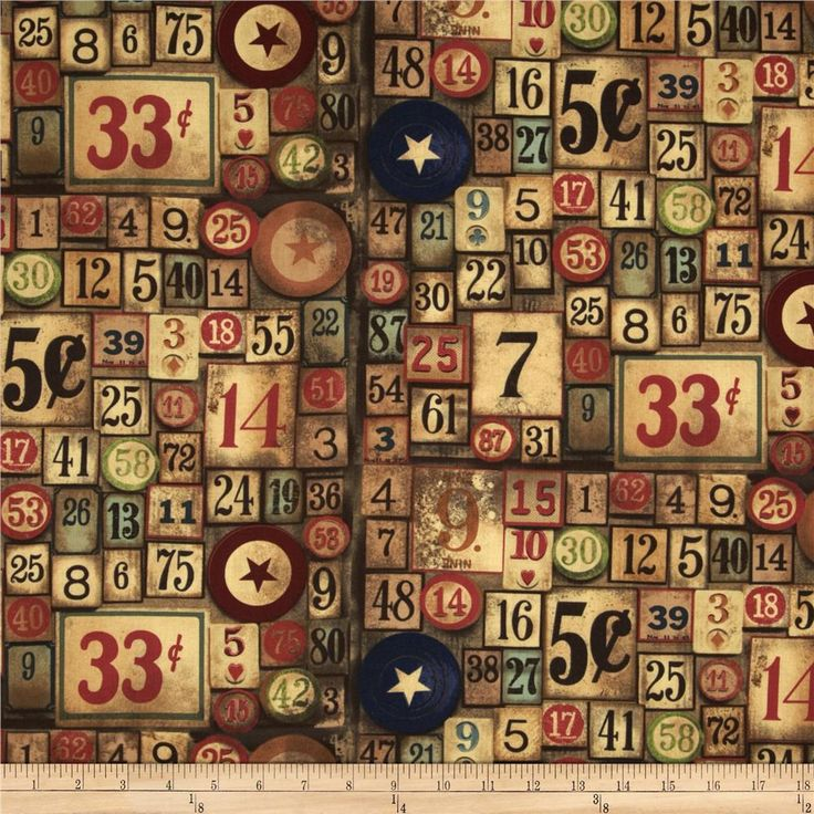 Designed by Tim Holtz, this cotton print fabric is perfect for quilting, apparel, crafts, and home decor items. Colors include navy, red, taupe, tan, cream, brown, and green.
