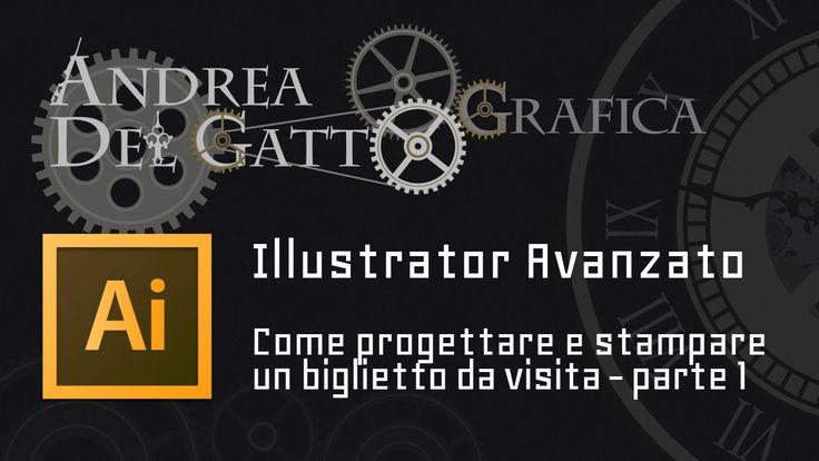 Tutorial avanzato su Adobe Illustrator - Biglietto da visita, progettazi...