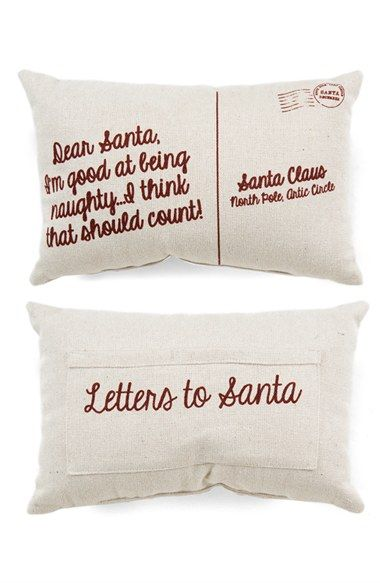 PRIMITIVES BY KATHY 'Naughty' Pocket Pillow available at #Nordstrom