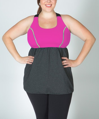 Lola Getts Plus-Size work out tank (built in bra - perfect for the top-heavy woman!)  #zulily