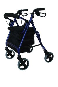 PRODUCTS > MOBILITY > Walkers > BRO204 Wheely Walker - big basket, light weight 7kg, weight limit 130kg, extra big basket and big seat, adjustable back rest.  Lightning mobility     BRO204 Wheely Walker  LI 1480 BRO204 Wheely Walker Quantity:   More Sharing Service...