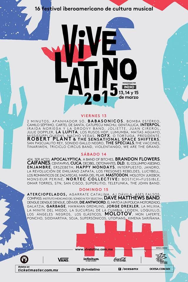 #VL15 Horarios: Carpa Intolerante Festival Vive Latino 2015
