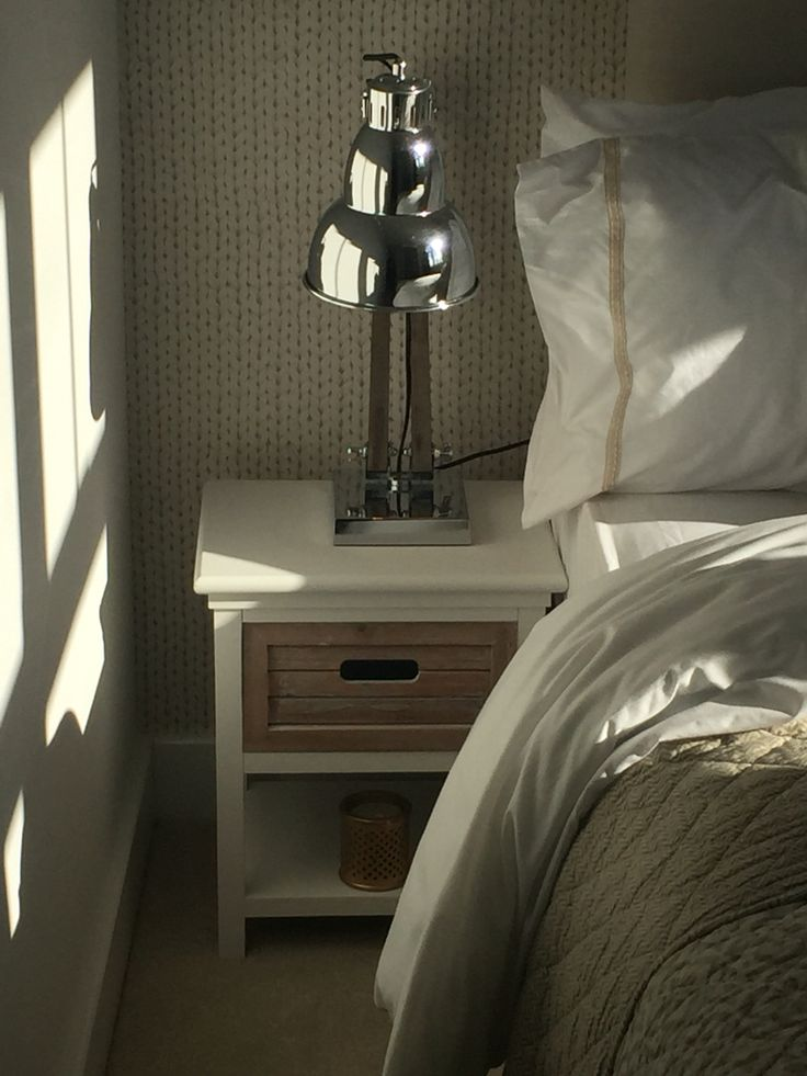 Cute bedside table and lamp
