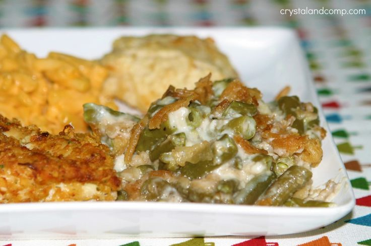 Hands down, this is an amazing crockpot green bean casserole. Our family loves it!