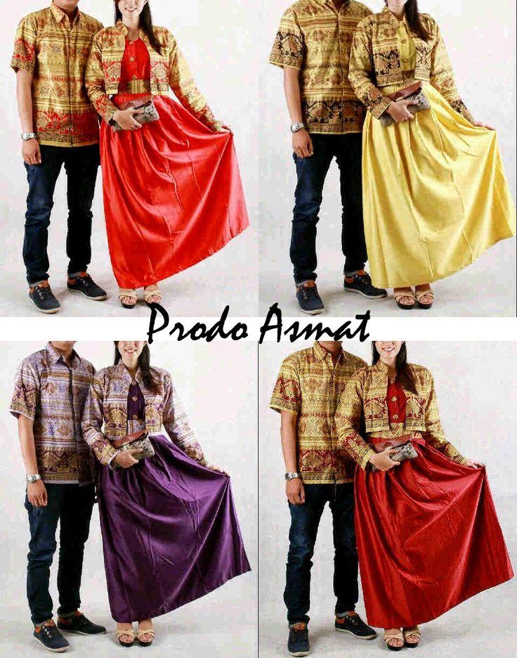 Model Gamis Batik  Modern Prodo Asmat Call Order : 085-959-844-222, 087-835-218-426 Pin BB 23BE5500 Model Gamis Batik  Modern Prodo Asmat Bahan Katun kombinasi Velvet Harga : Rp.225.000,-.-/pasang Ukuran Pria :  XL, L dan M Ukuran Wanita :   Allsize