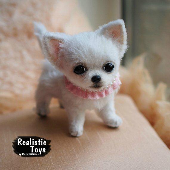 Diamond Little Chihuahua Realistic Life Size Replica Puppy