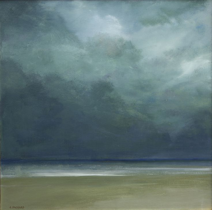 Abstract Oil Painting Beach Stormy