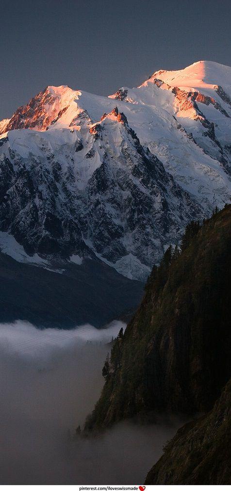 Massif du Mont Blanc with Aiguille du Midi, author unknown, picture taken near Chamonix, France