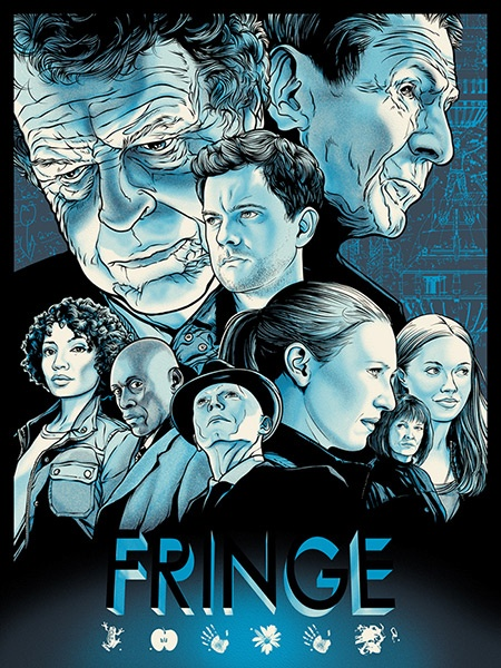Fringe Benefits Project - Fringe by Joshua Budich - 6th (of 6) limited edition screenprints - only 100 available for purchase - all proceeds go to charity!
