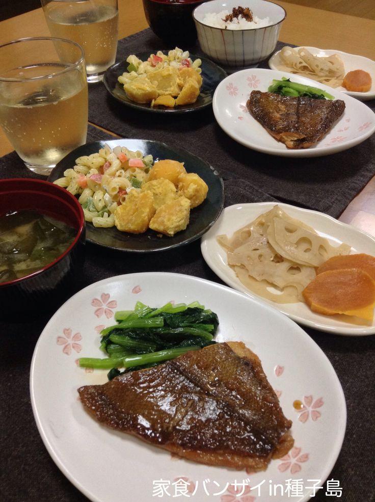 2015/8/24 夕食 カレイの煮付け