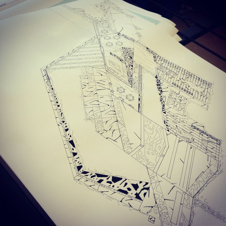 Ink on trace drawings #stone #architecture
