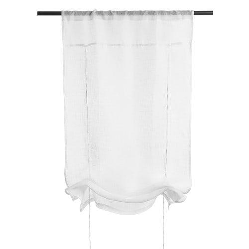 Cortina corta de nudos de lino crudo 60 x 120 cm MARQUISE