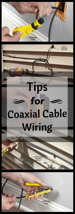 Tips for Coaxial Cable Wiring: In today's information age, a massive amount of information is being pushed through our coaxial cables, leaving very little room for error. Here are 23 tips to improve TV reception and internet speed. http://www.familyhandyman.com/electrical/wiring/tips-for-coaxial-cable-wiring