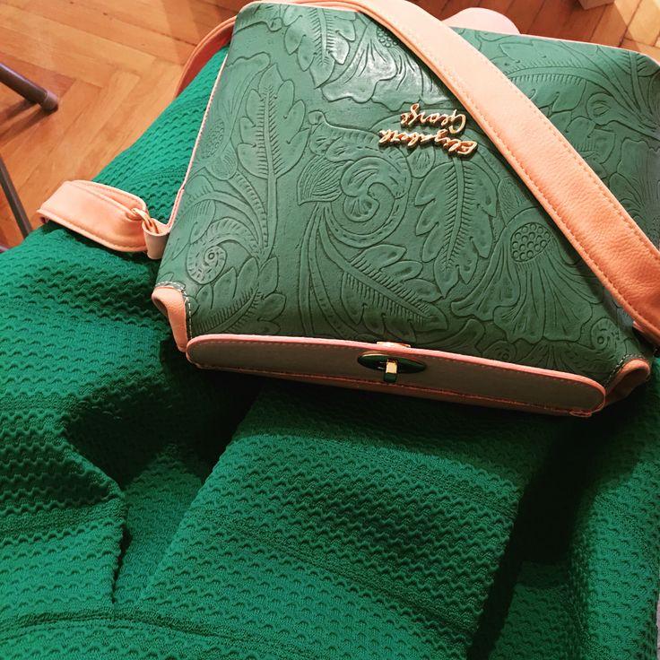Elizabeth George Green Flower Patterned Bag www.egbags.com The New Bag Evolution