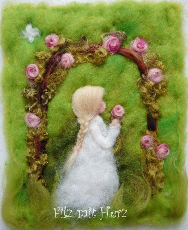 Rosenduft von Filz mit Herz