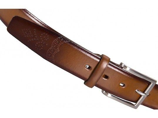 Pánsky koňakovohnedý kožený opasok 108, Lloyd 1
