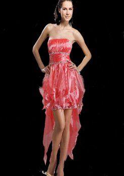 A-ligne bretelles asymétriques en organza robes de bal à bas prix