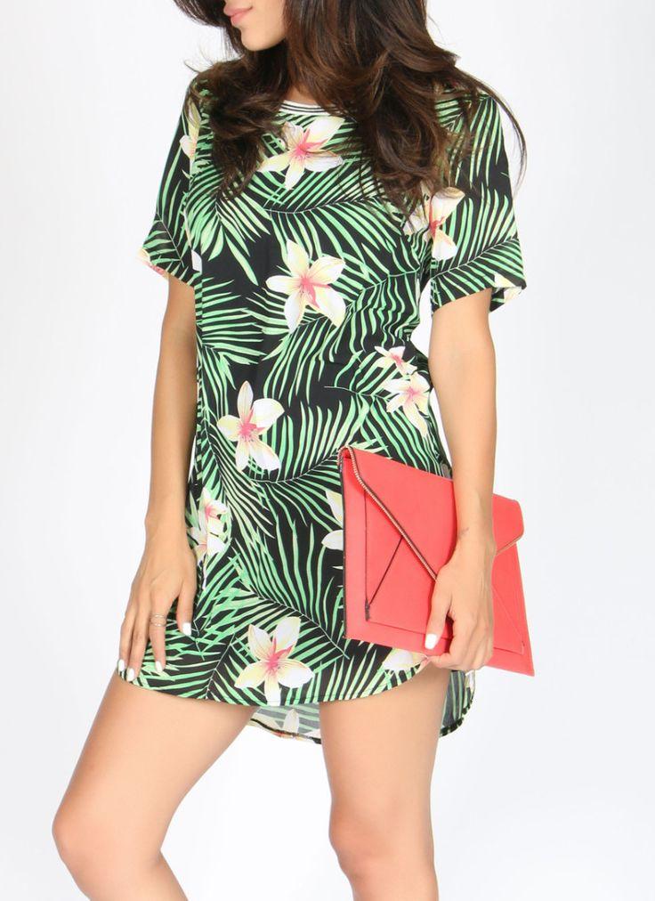 Tropical Shirt Dress