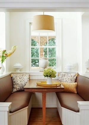 My grandma had a booth in her kitchen ~ I thought it was so cool when we ate lunch at it!