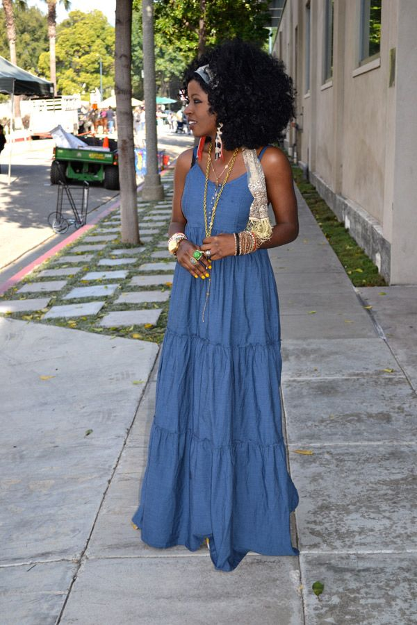 Style Pantry | H&M Denim Maxi Dress