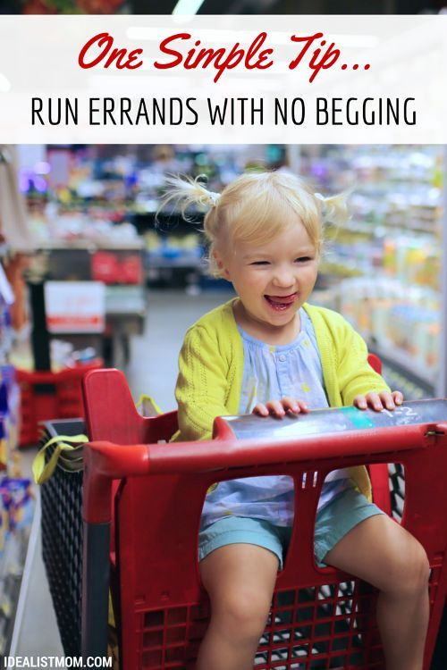 Do your kids ask for toys and treats when you're running errands? Here's a simple parenting tip to end the whining and begging!