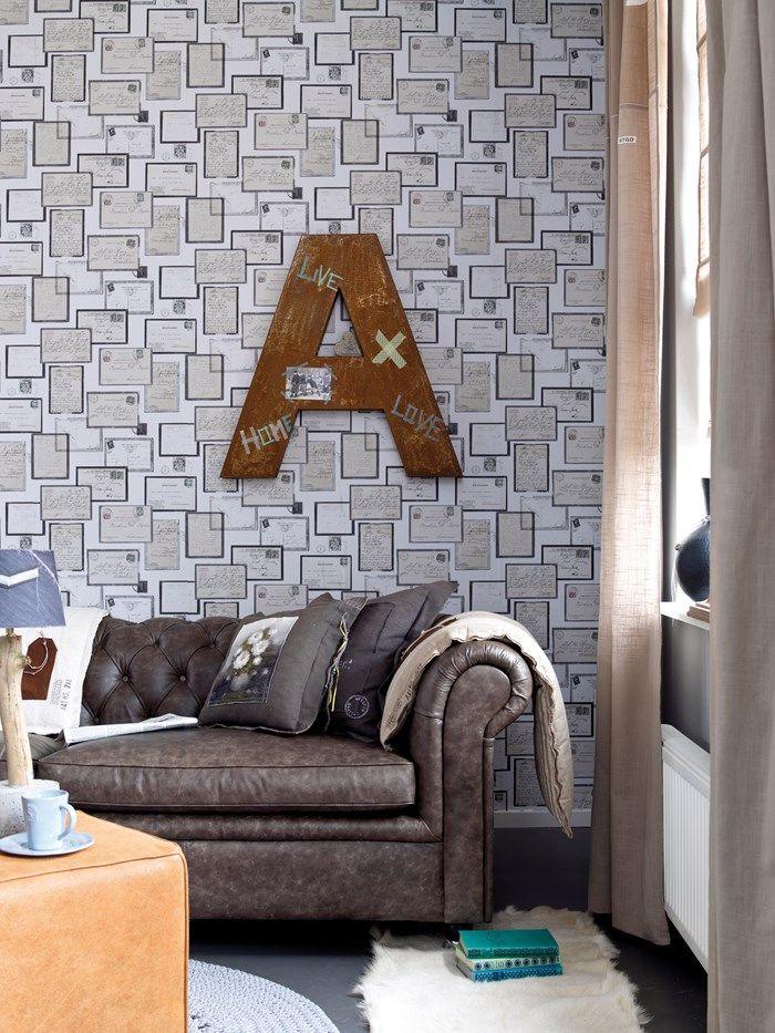 Postcards Multicoloured Wallpaper by Graham and Brown