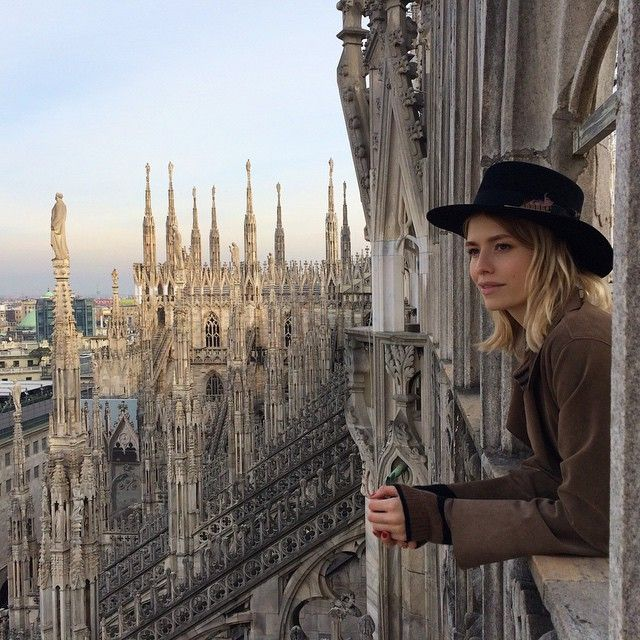 A moment of eternity in fashion week madness. On the rooftop of #Duomo #Milan  Момент... | Use Instagram online! Websta is the Best Instagram Web Viewer!