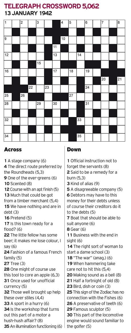 The famed British codebreakers of Bletchley Park placed a challenging crossword puzzle in the Daily Telegraph newspaper on January 13, 1942. Anyone (man or woman) who could solve it in un…