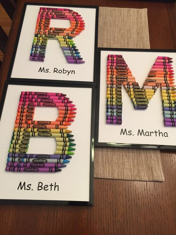 Handmade Crayon Letter by CoachsWife83 on Etsy