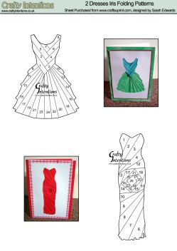 IRIS folding patterens | Home : Iris Folding : Ladies : Dresses (3 & 4) Iris Folding Pattern