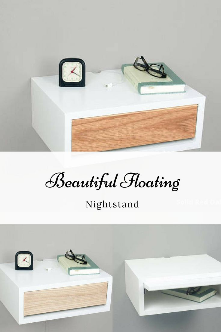 Definitely want this nightstand on my bucketlist! Contemporary Nightstand, Floating Nightstand, Side Table, Bedside Table, Wall Mount Night Stand with a Door #home #ad #homedesign #decor #modern #farmhouse