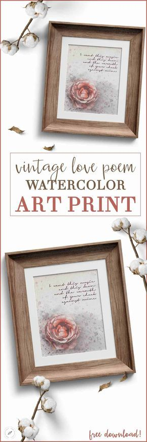 Looking for a valentines day gift for him or her? This vintage love poem art print is the perfect DIY valentines gift for your boyfriend, girlfriend, husband, or wife! Hop to www.homebeautifully.com to grab this free art print! #valentinesday #valentines #printables #printableart #quotes