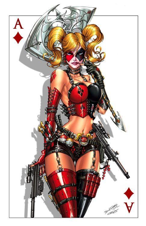 Harley Quinn / Deadpool Crossover Art