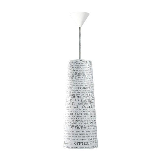 Lampa wisząca Live 1 x 60 W E27 plastik