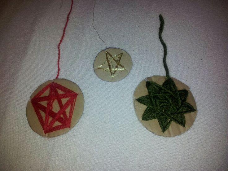 Yarn X-mas ornaments!