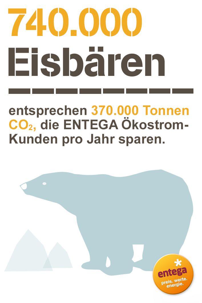 Kunden von #ENTEGA #Ökostrom sparen pro Jahr das Gewicht von 740.000 #Eisbären in #CO2 ein. Mehr #Fakten rund um #Ökoenergie findet ihr hier.