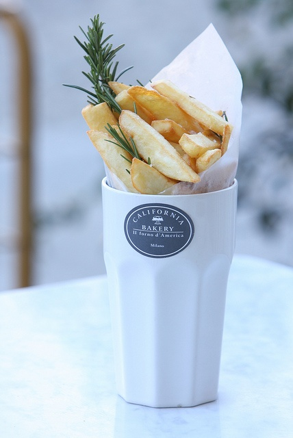 Fried potatoes and rosemary