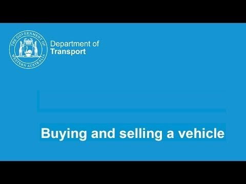 Buy a vehicle (transfer licence)
